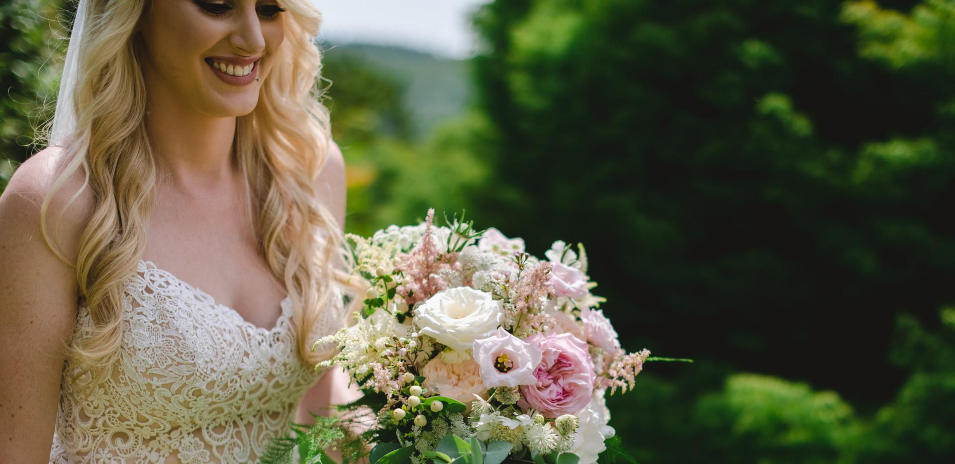 Boho blush bridal bouquet