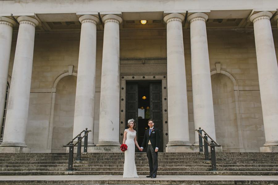 Chic Cardiff Museum wedding