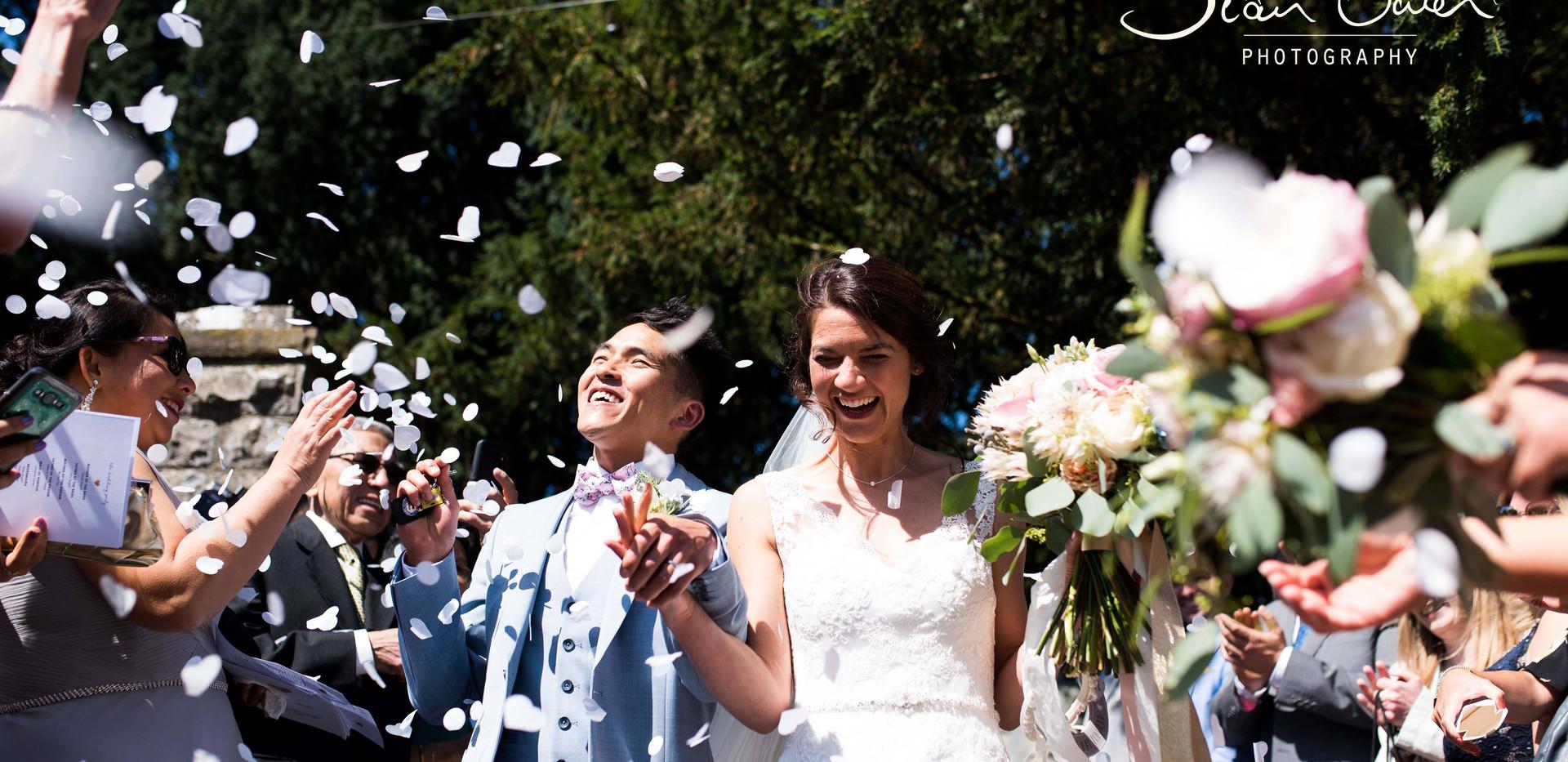 Wedding ceremony and cofetti