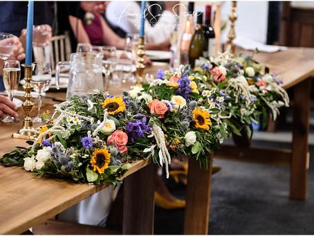 Wedding flower ideas for festive/Tipi/farm weddings