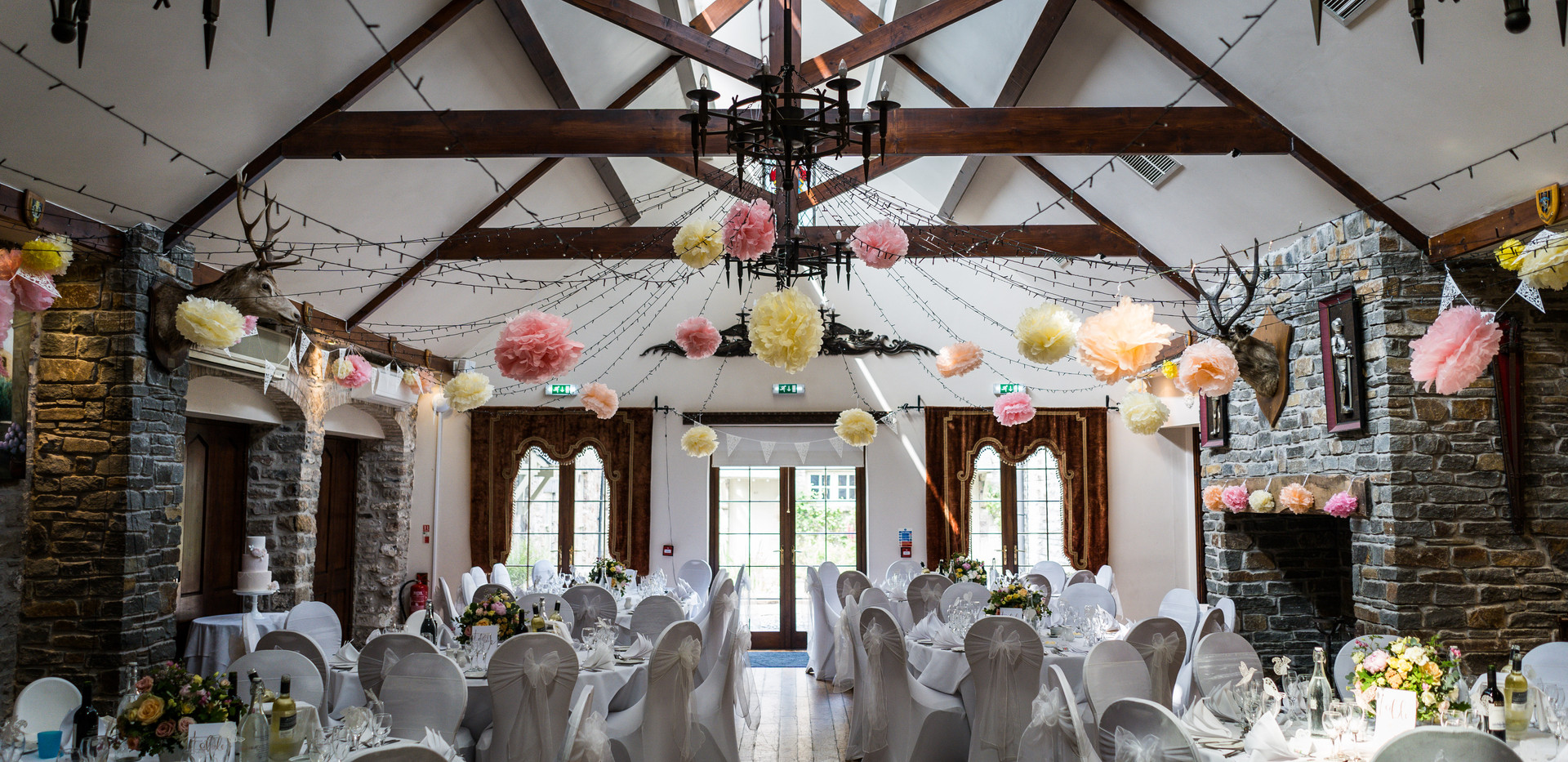 Miskin Manor wedding reception