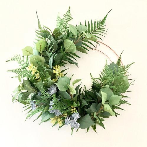 Copper green wreath