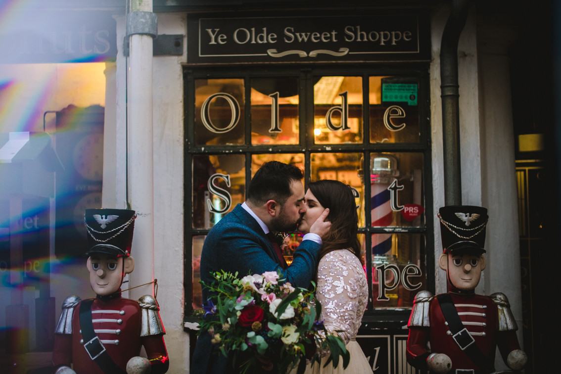 Winter boho wedding in Penarth