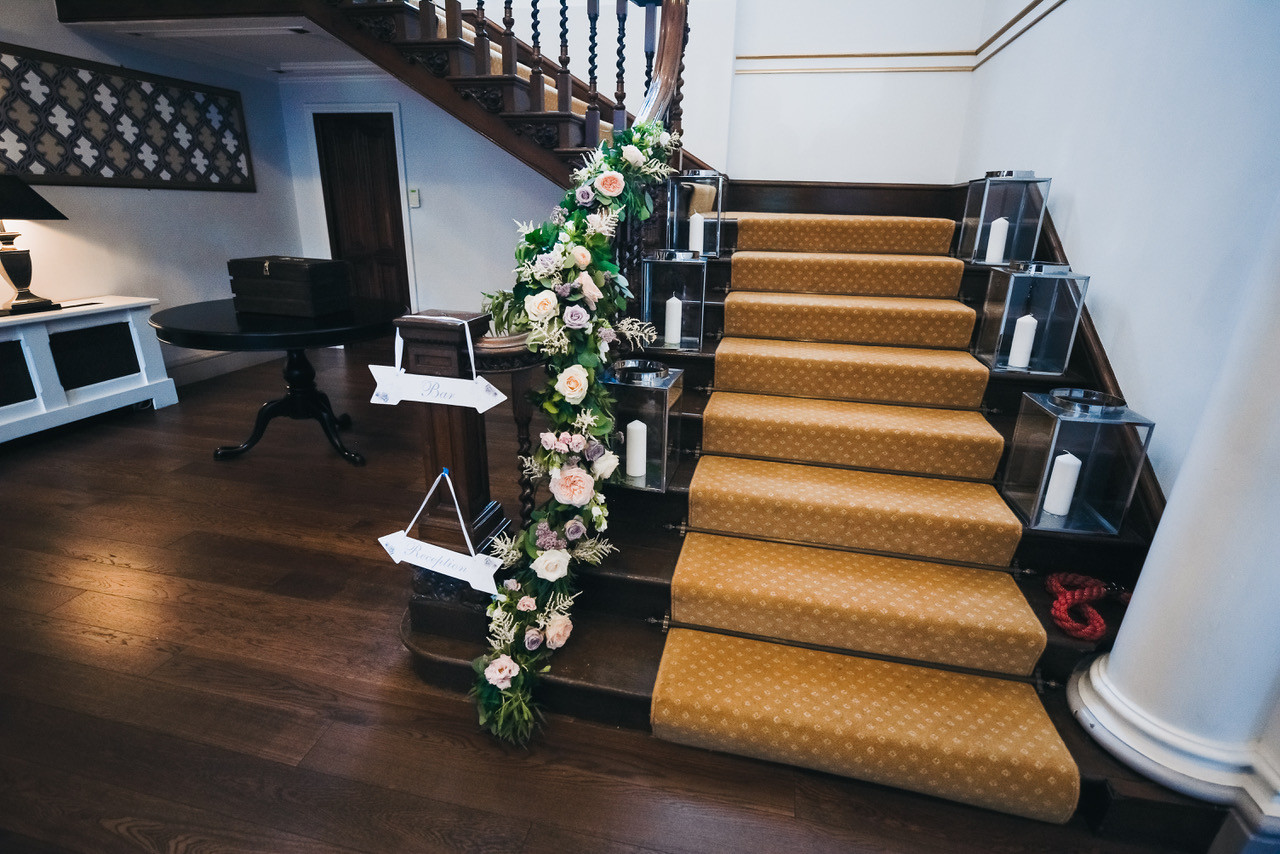 Staircase flowers decoration