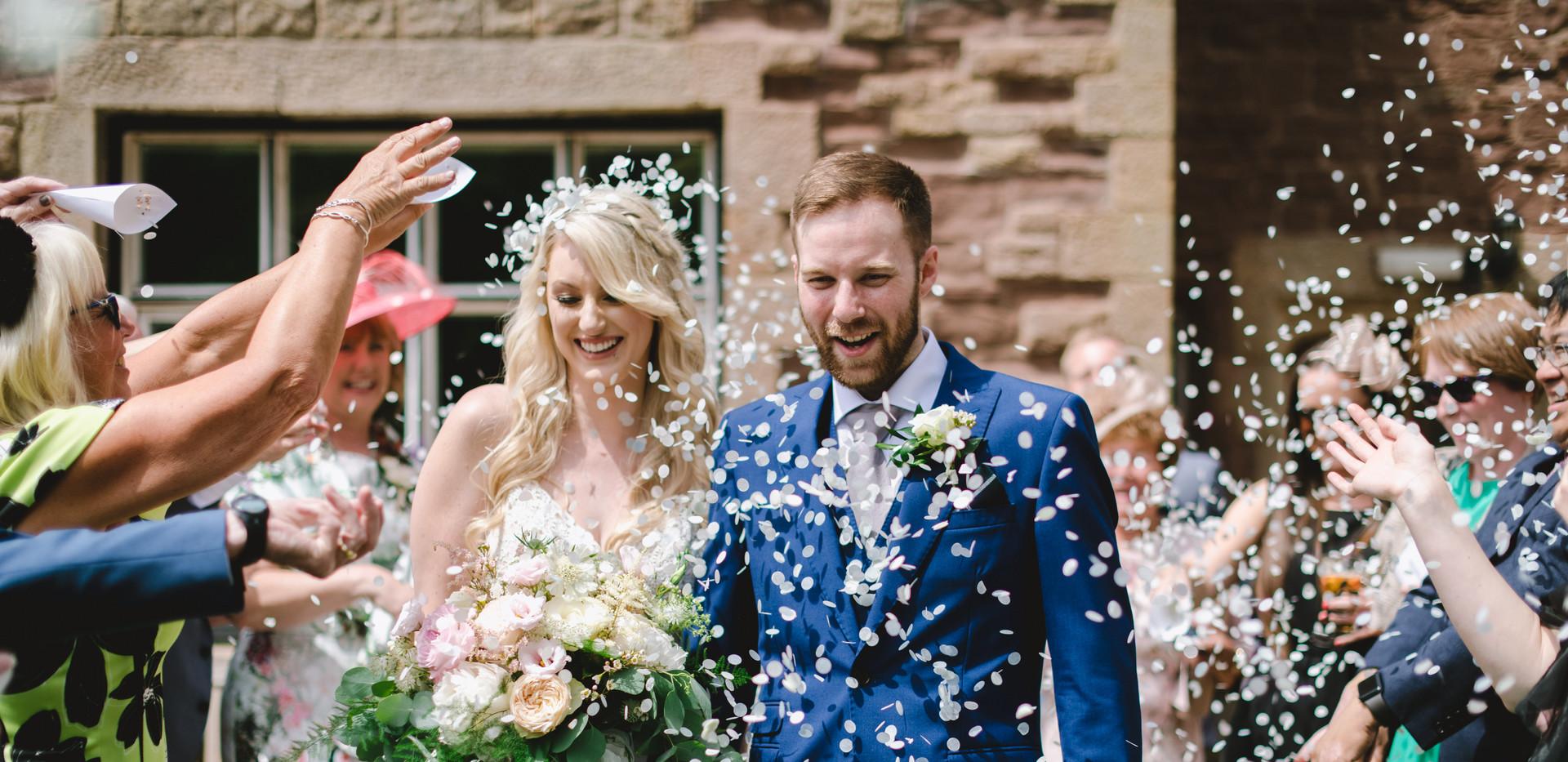 Leafy Caer llan wedding
