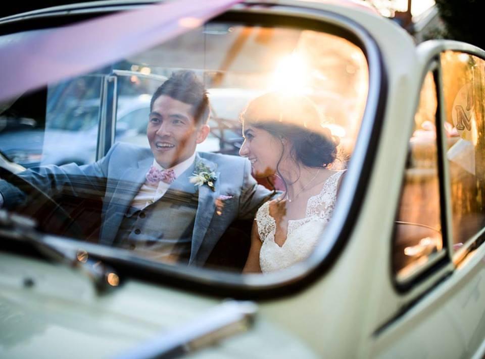 Bride and groom Penarth wedding