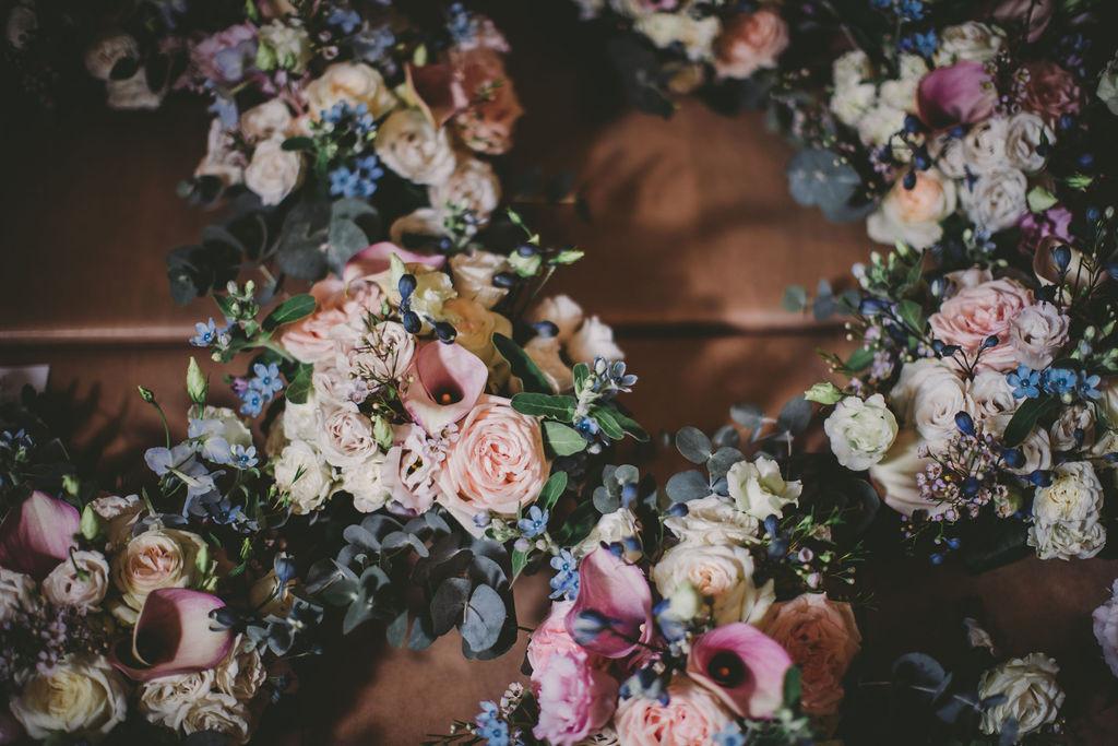 Caerphilly Castle Wedding bouquets