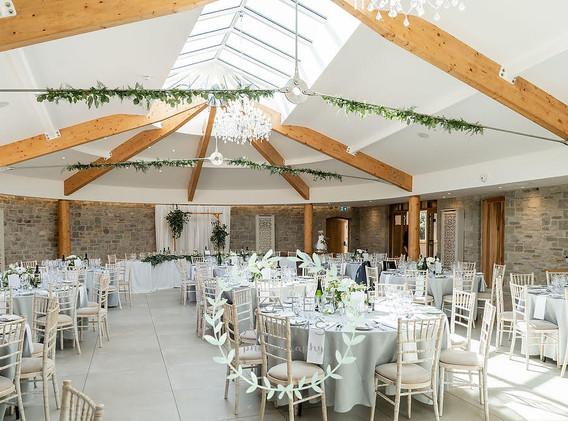 Wedding reception decoration in St Tewdrics