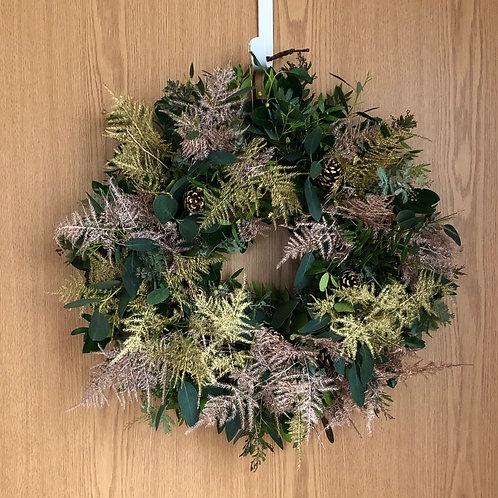 Glowing Fern Wreath