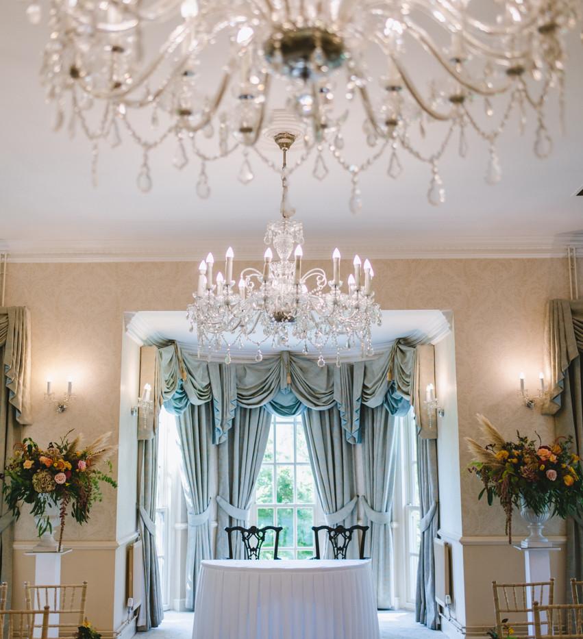 Wedding ceremony room at Decourcey's Manor