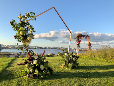 Trending wedding flower arches