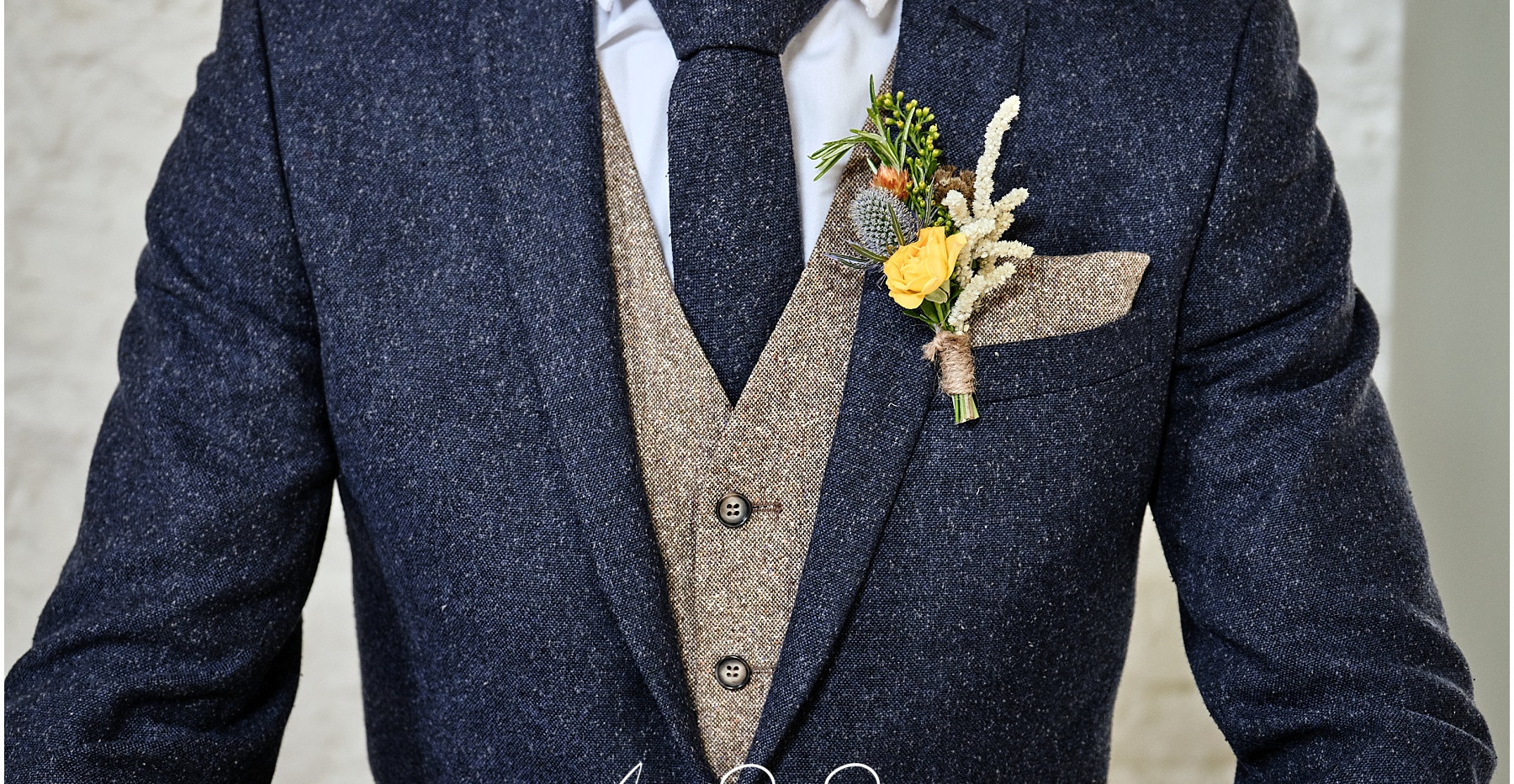 Rustic style buttonhole
