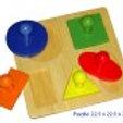 Shape Puzzle 5 Shapes/Geometric Board