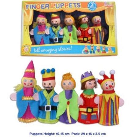 5 Piece Finger Puppets - King & Queen