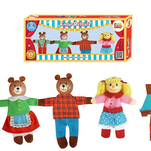 8 Pieces Finger Puppets - Goldilocks & 3 Bears
