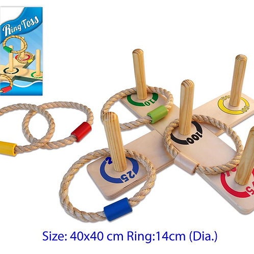 Ring Toss with 5 Poles