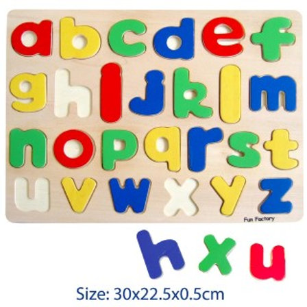 Wooden Puzzle Raised Alphabet