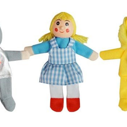 Five Piece Finger Puppets - Wizard of Oz