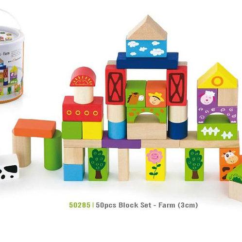 Block Set Fifty Pieces - Farm