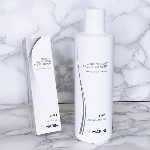 Jan Marini Luminate Face Lotion & Bioglycolic Face Cleanser