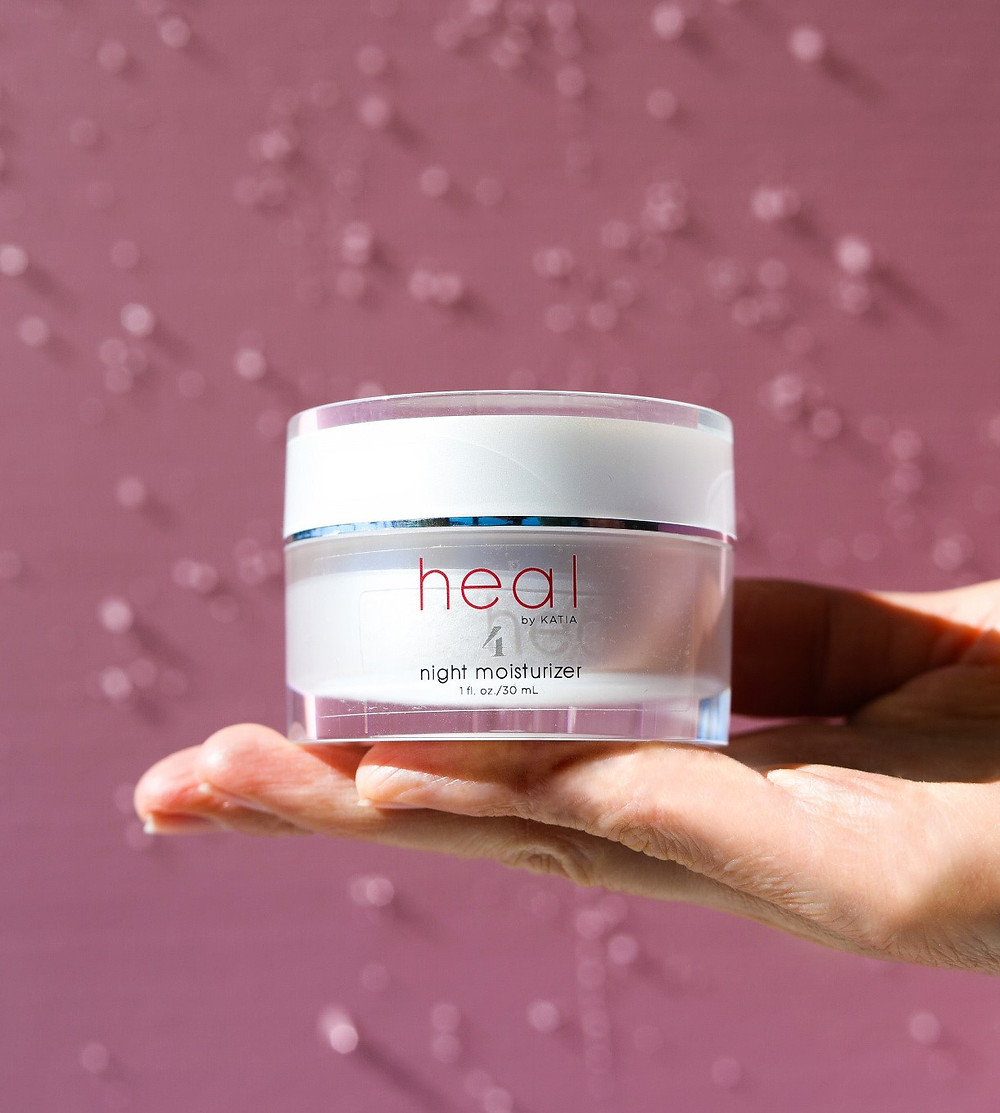 Deep hydration night moisturizer Heal by Katia.
