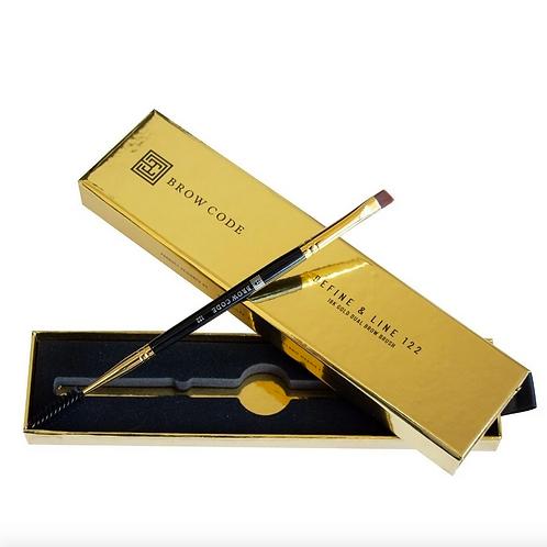 BROW CODE Define & Line 122 - 18k Gold Dual Brow Brush