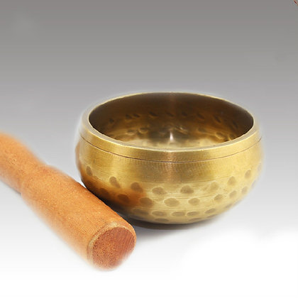 Hand beaten singing bowls