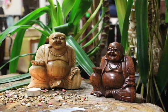 15 cm Hand Carved Buddha