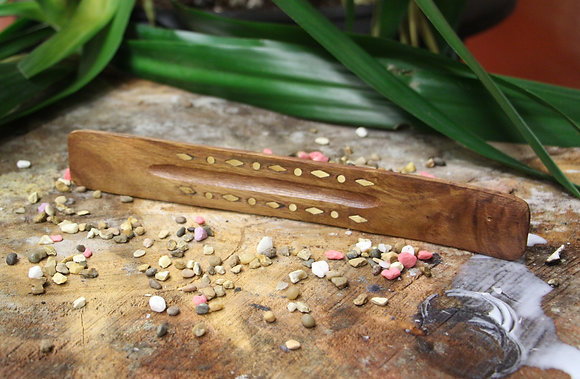 Hand Carved Wooden Incense Holder