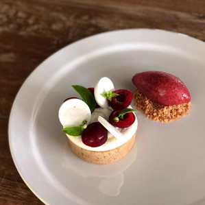 Beautiful plated desserts with all homemade ingredients!  Delicious