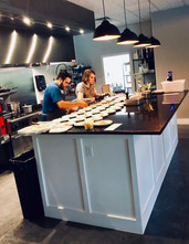 Chefs Michael and Emily hard at work!