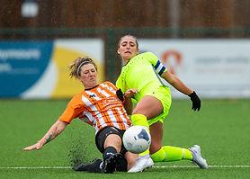 Xayla Rae gets a tackle in v Ashford Wom