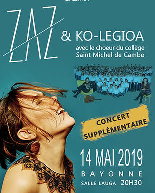 Concert Zaz Bayonne photo affiche.webp