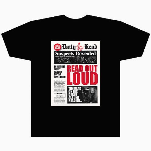 Mens Black Read Out Loud T-Shirt  FREE P&P UK