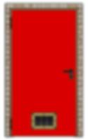 porte coupe feu avec grille de ventilation