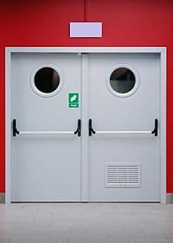 Porte acier coupe feu system portes industrie for Bloc porte coupe feu 1h