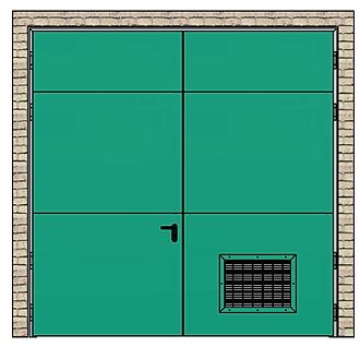 Porte cf grille ventilation system portes industrie - Grille de transfert coupe feu ...
