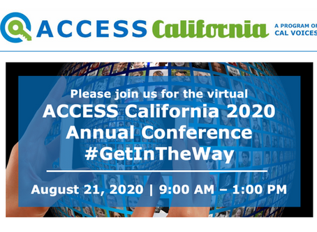 Register today for ACCESS California's virtual 2020 Annual Conference!