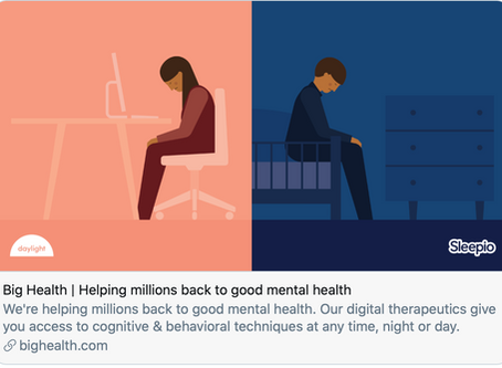 Big Health - sleep better, feel happier and worry less offers free wellness apps to nonprofit worker