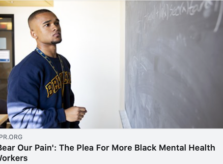 'Bear Our Pain': The Plea For More Black Mental Health Workers