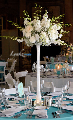 Tall guest table centerpiece