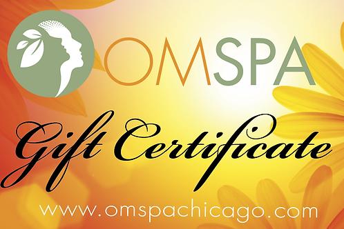OM SPA Gift Certificate