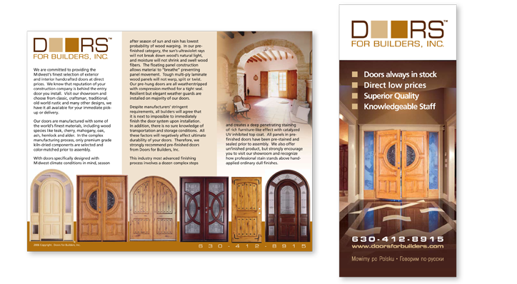 Logo and brochure design for Doors