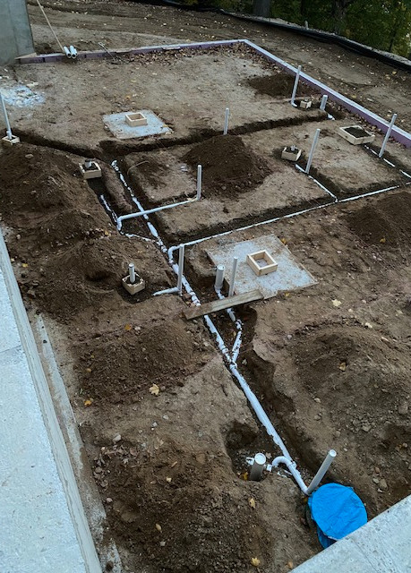 Underground for New Construction Home