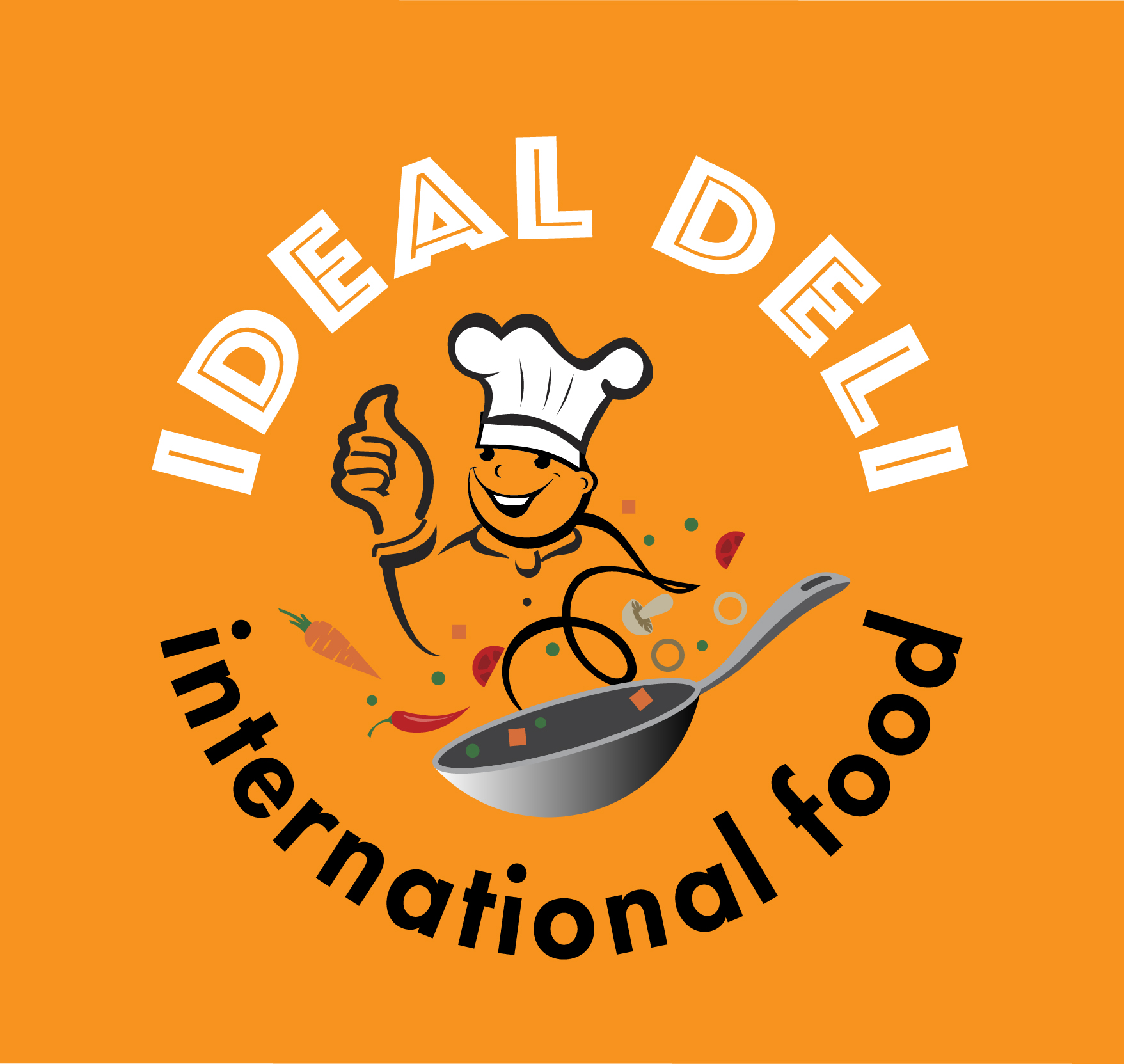 Ideal logo on orange-01
