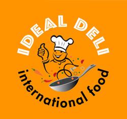 Ideal logo on orange-01