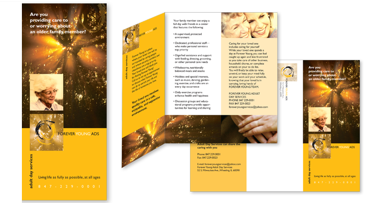 Brochure Design and print for Forever Young