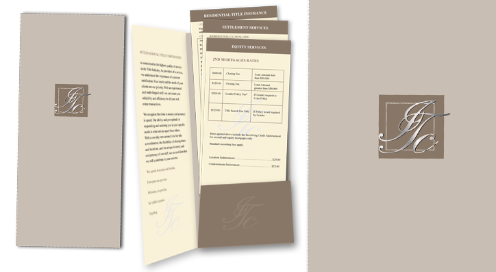 Logo, Folder with Inserts design and Print