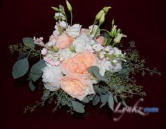 Bride's bouquet top view