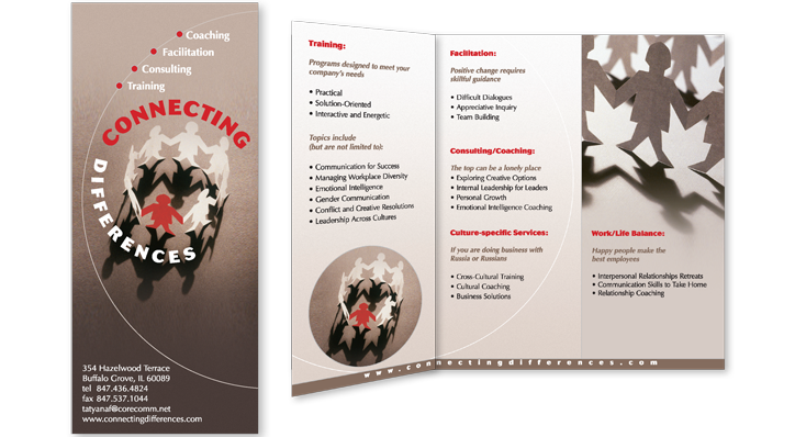 Brochure Design for Connecting Differences